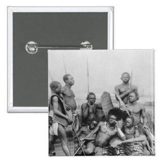 Warriors, Belgian Congo, 1894 Pinback Button