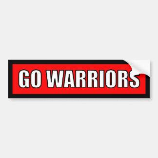 Warriors - Black Red White Sticker Car Bumper Sticker