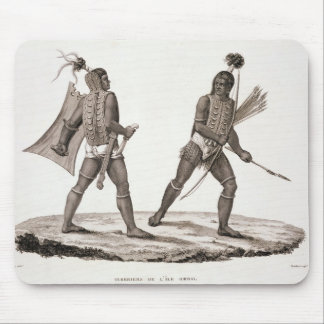 Warriors from the Island of Ombai, from 'Voyage Au Mouse Pad