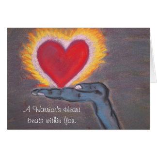 Warrior's Heart greeting card