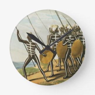 Warriors of New S. Wales engraved by M. Dubourg (f Round Wallclocks