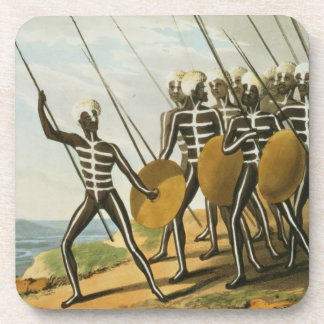 Warriors of New S. Wales engraved by M. Dubourg (f Coaster