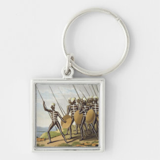 Warriors of New South Wales, engraved by Matthew D Key Chains