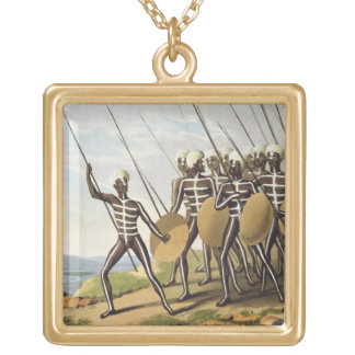 Warriors of New South Wales, engraved by Matthew D Jewelry