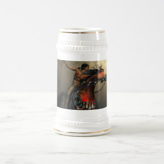 Warriors of the Plains 18 Oz Beer Stein