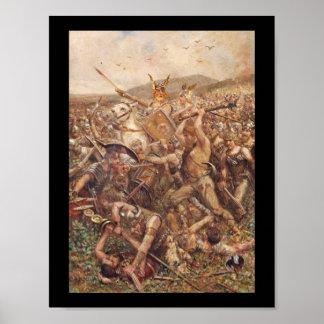 Warriors Storming the Battlefield Print