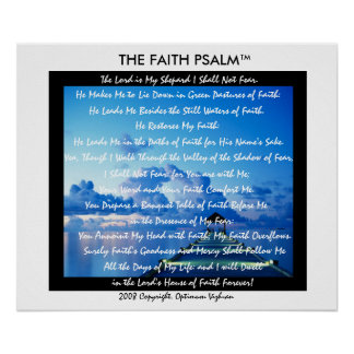 WarriorsCreed Faith Psalm Water Dock Poster