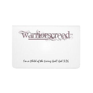 WarriorsCreed SnakeSkin Logo Custom Pocket Journal