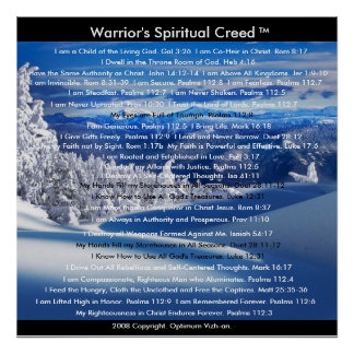 WarriorsCreed Warrior's Spiritual Creed Poster