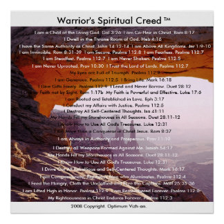 WarriorsCreed Warrior's Spiritual Creed Posters