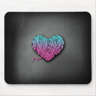 Warrpaed Pink and Blue Heart Mouse Pads