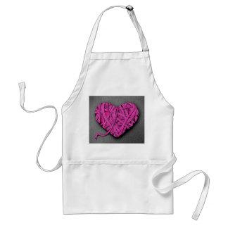 Warrpaed Pink Heart Adult Apron