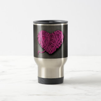 Warrpaed Pink Heart Travel Mug