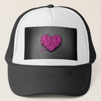 Warrpaed Pink Heart Trucker Hat