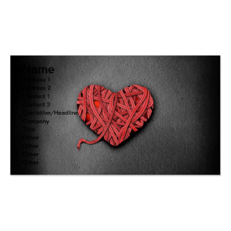 Warrpaed Red Heart Business Card