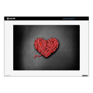 Warrpaed Red Heart Laptop Decal