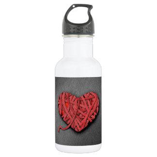 Warrpaed Red Heart Water Bottle