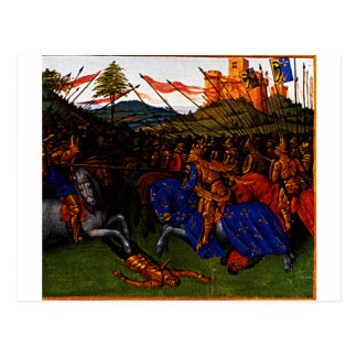 Wars of Charlemagne by Jean Fouquet Postcard