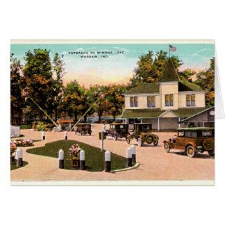 Warsaw, Indiana Entrance to Winona Lake Card