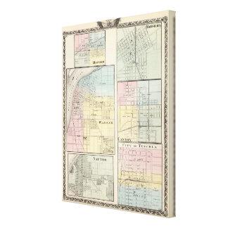 Warsaw, Macomb, Marshall, Canton Canvas Print