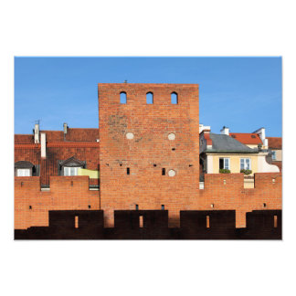 Warsaw Old Town Wall and Tower Photo Print