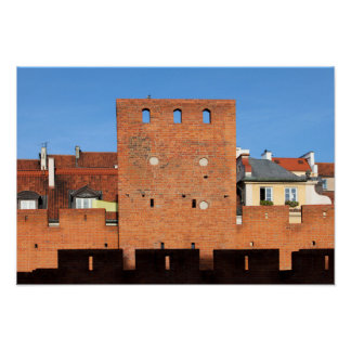 Warsaw Old Town Wall and Tower Poster