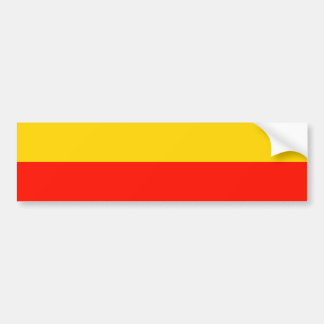 Warsaw, Poland flag Bumper Sticker