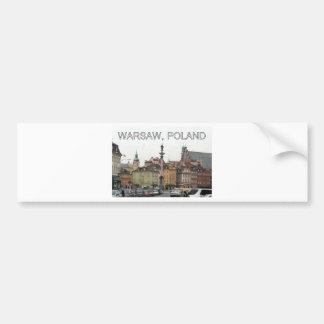 WARSAW POLAND STARE MIASTO OLD TOWN BUMPER STICKER