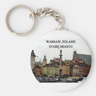 WARSAW POLAND STARE MIASTO OLD TOWN KEYCHAIN