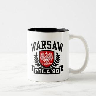 Warsaw Poland Two-Tone Coffee Mug