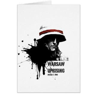 warsaw uprising greeting card