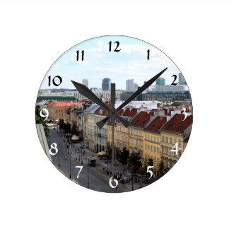 Warsaw View Round Wallclock