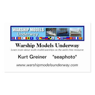Warship Models Underway Business Card