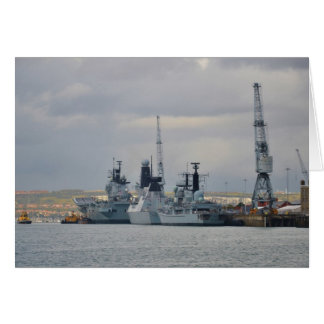 Warships In Portsmouth Card