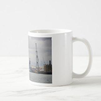 Warships In Portsmouth Coffee Mug