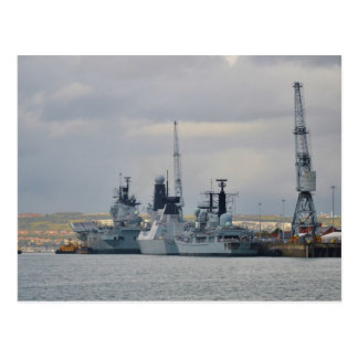 Warships In Portsmouth Postcard