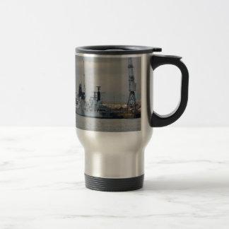 Warships In Portsmouth Travel Mug