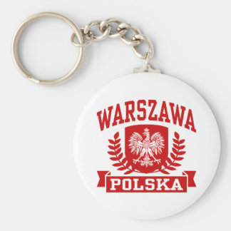 Warszawa Polska Keychains