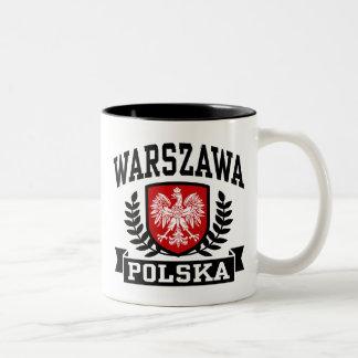 Warszawa Polska Two-Tone Coffee Mug