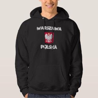 Warszawa, Polska, Warsaw, Poland with coat of arms Hooded Sweatshirt