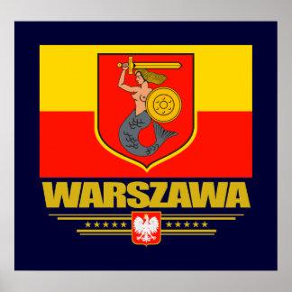 Warszawa (Warsaw) Poland Poster