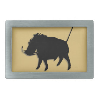 Wart Hog Rectangular Belt Buckle