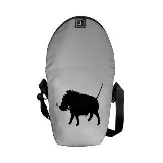 Wart Hog Silver Messenger Bag