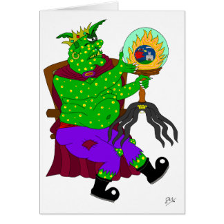 Wartarth and the magic lamp greeting card