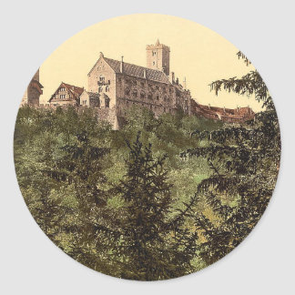 Wartburg, from Eisenach Castle, Thuringia, Germany Classic Round Sticker