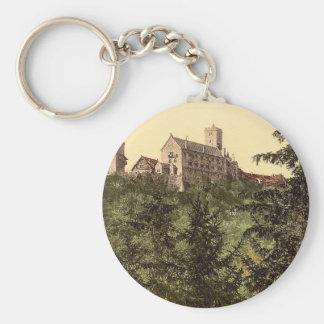 Wartburg, from Eisenach Castle, Thuringia, Germany Keychain