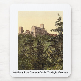 Wartburg, from Eisenach Castle, Thuringia, Germany Mouse Pad