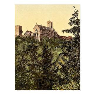 Wartburg, from Eisenach Castle, Thuringia, Germany Postcard