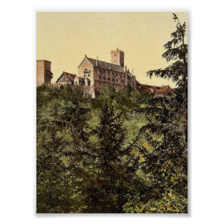 Wartburg, from Eisenach Castle, Thuringia, Germany Print