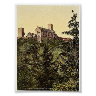Wartburg, from Eisenach Castle, Thuringia, Germany Poster